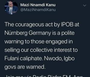Why IPOB attacked Ike Ekweremadu in Germany – Nnamdi Kanu